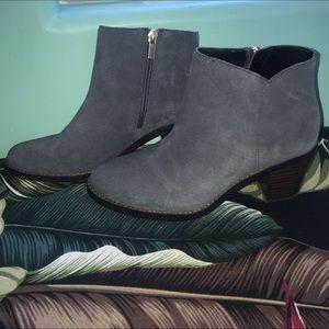 Grey/blue Suede booties